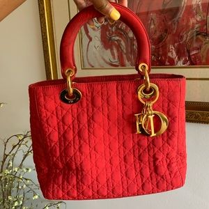 RARE Red Lady Dior Vintage Purse